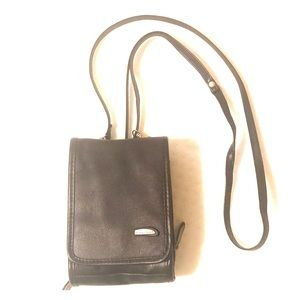 Travel purse brown with strap